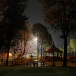 Night view of Lake View Park.