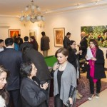 A large gathering of art enthusiasts, diplomats, officials attended the art event.