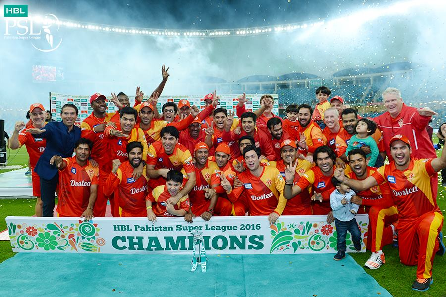 Islamabad United team become first PSL champions