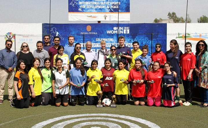 International Day of Sports for Development and Peace celebrated in Islamabad by Serena Hotels and UN Women