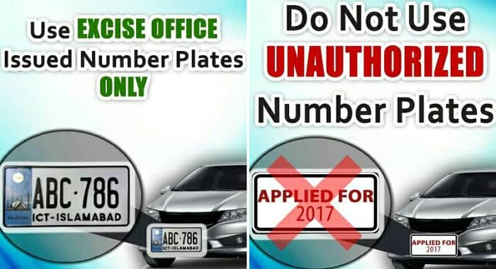 Islamabad Traffic Police launches drive against unauthorized number plates