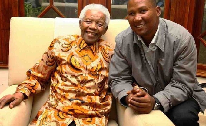 Mandla Mandela, the grandson of former South African president Nelson Mandela,