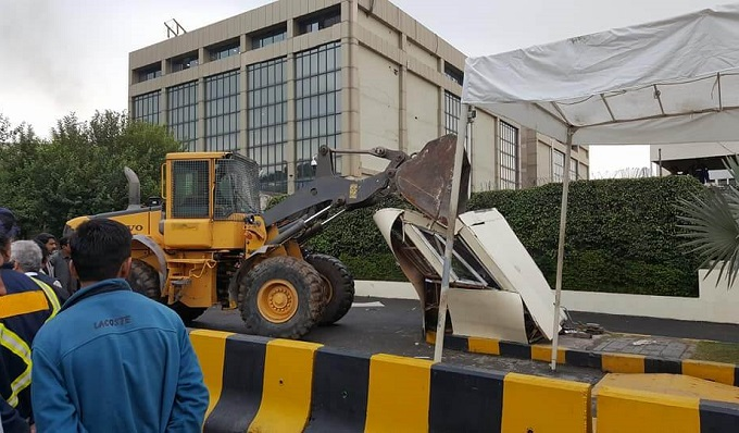 cda bulldozes marriott illegal encroachment