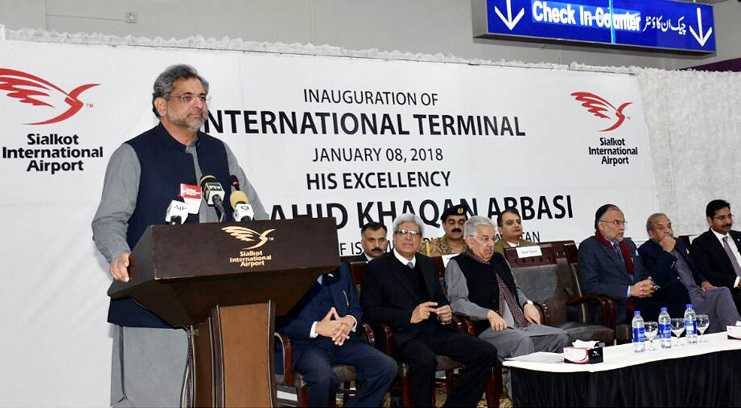 PM Abbasi inaugurates new terminal at Sialkot International Airport