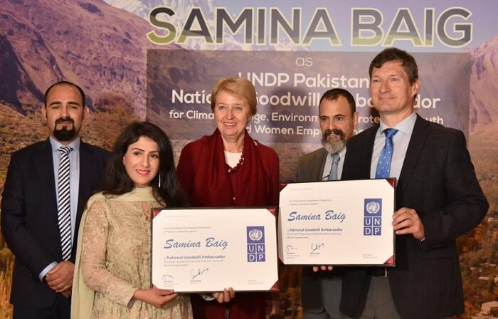 Mountaineer Samina Baig appointed UNDP National Goodwill Ambassador