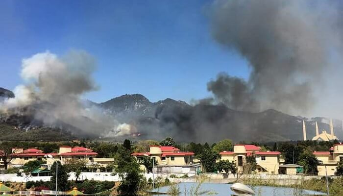 Margalla Hills fire
