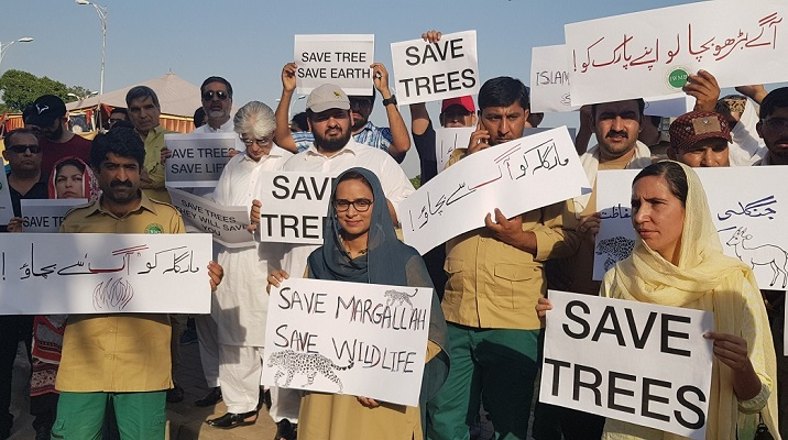 Activists gather to save Islamabad's treasured Margalla Hills from arson fires