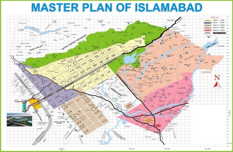 master plan of Islamabad