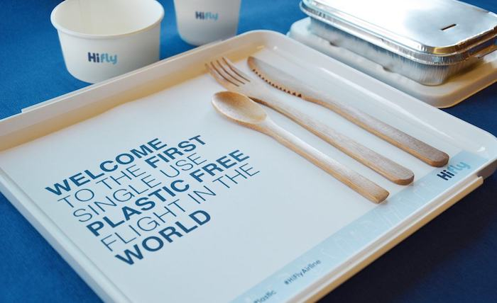 Hi Fly replaced plastic cutlery and containers with bamboo and compostable alternatives CREDIT: HI FLY