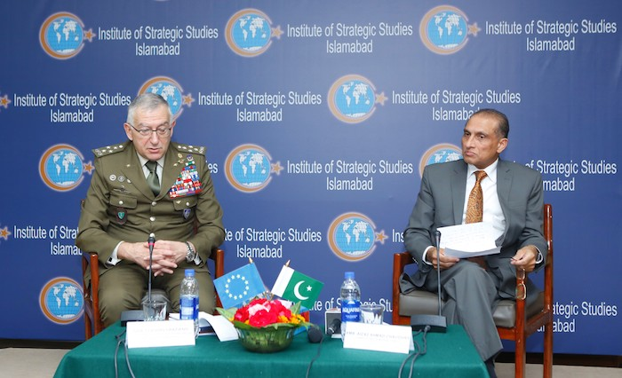 Chairman of the European Union Military Committee, General Claudio Graziano, on his first official visit to Pakistan