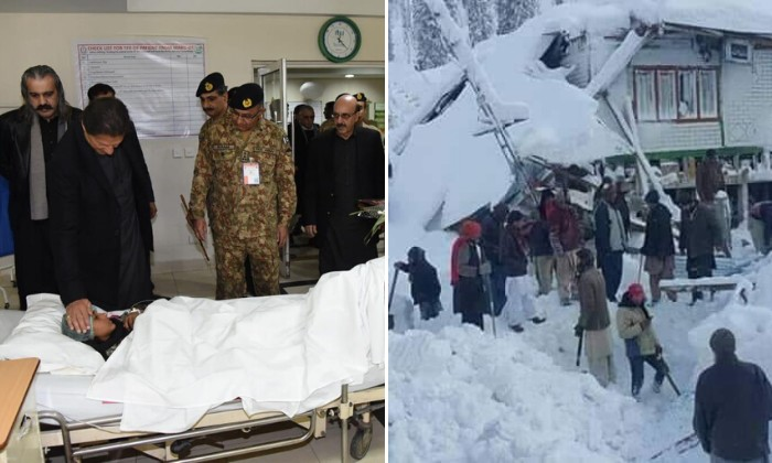 PM Imran visits AJK as death toll from avalanche rises