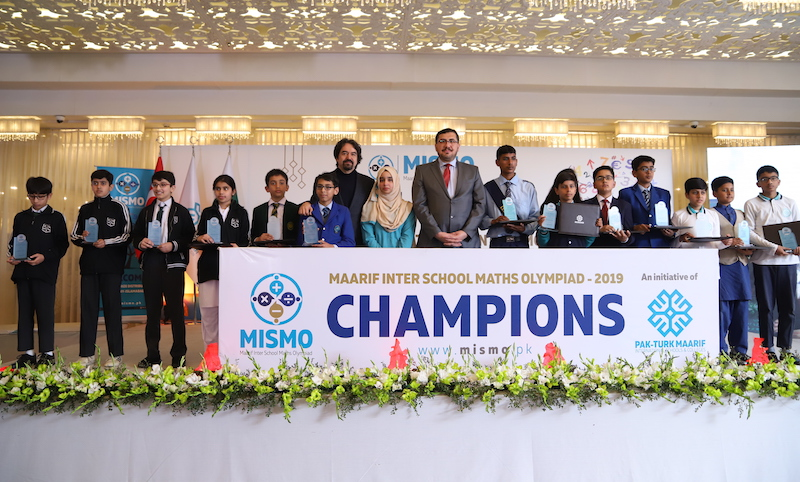Turkish Ambassador, official from Ministry of Education Turkey and others attend prize distribution ceremony of Pakistan's largest Maths Olympiad