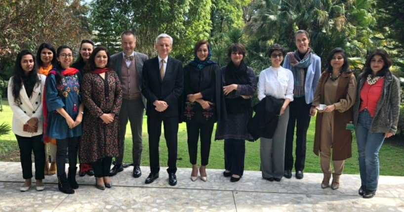 Embassies of Germany and France in Islamabad jointly hosted Pakistani women journalists to mark Women's Day