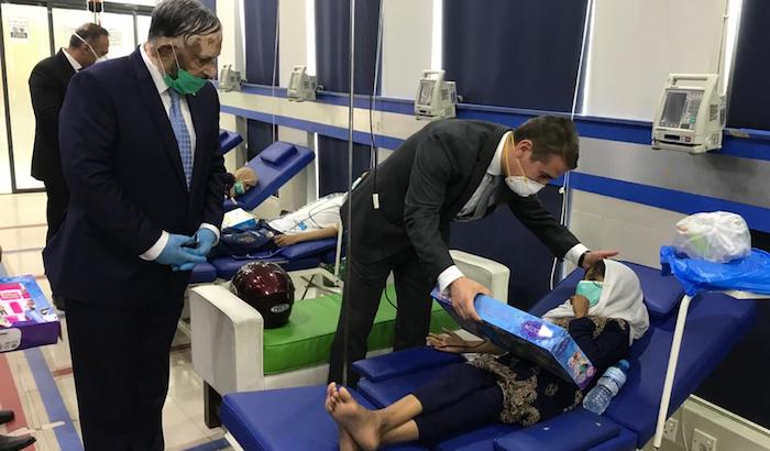 Blood bags, medical masks, food boxes and gifts of Heydar Aliyev Foundation of Azerbaijan were provided to the Sundas Thalassemia Center of Pakistan